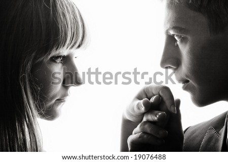 Couple theme. An image of man and woman.