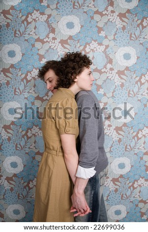 couple together, embracing - stock photo