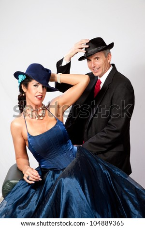 Couple Together In Semi Formal Dress, And A Romantic Mood ...