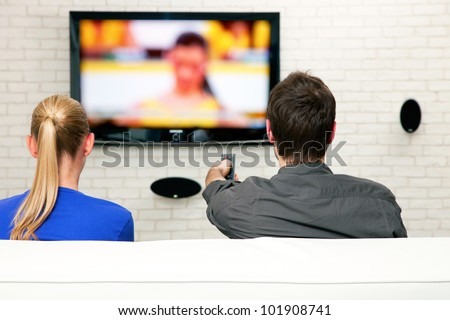 couple watching tv