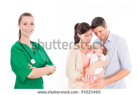 couple with baby in hospital