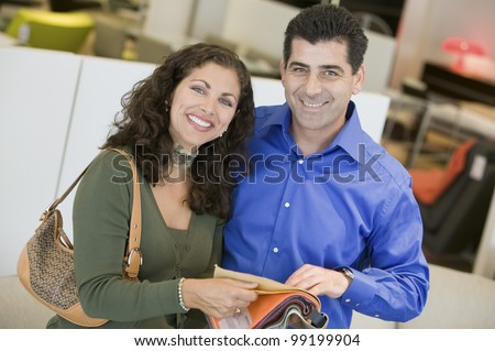 Couple With Fabric Swatches