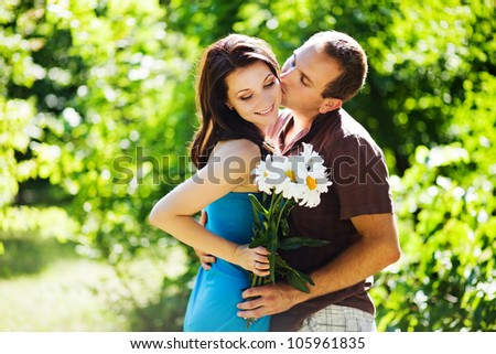 couple with flowers