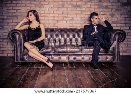Couple with relationship problems - Two stylish lovers having couple problems