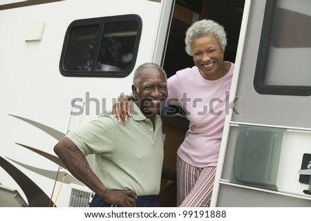 Couple with Their RV