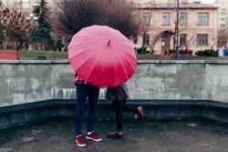 Couple with umbrella