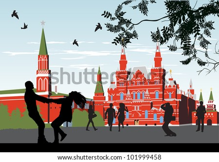 couples on the Red Square