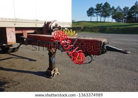 Coupling device of the trailer truck #1363374989