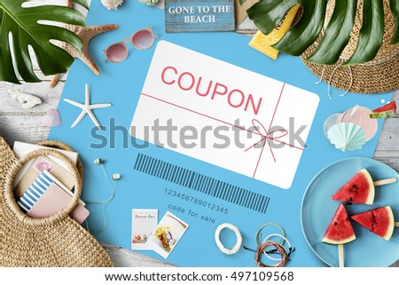 Coupon Gift Certificate Shopping Concept