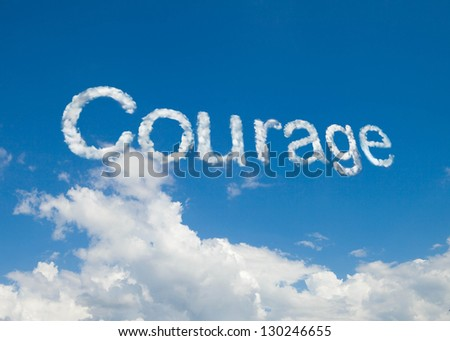 courage cloud word