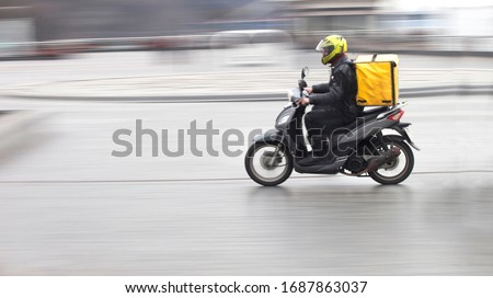 Couriers carry out orders for the delivery of goods