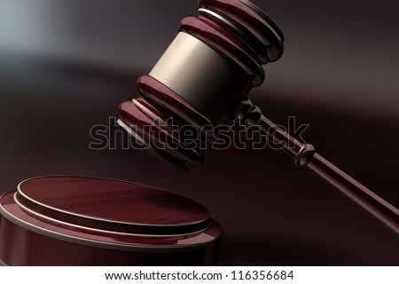 Court Gavel 3d render ( depth of field )
