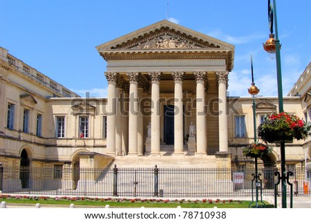 Court of law building in Montpellier, France ストックフォト ©