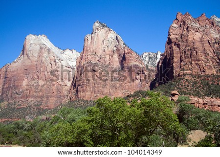 Court of the Patriarchs at Zion National Park