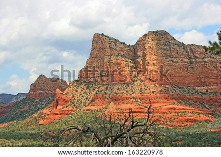 Courthouse Butte - red rock formation in Sedona, Arizona