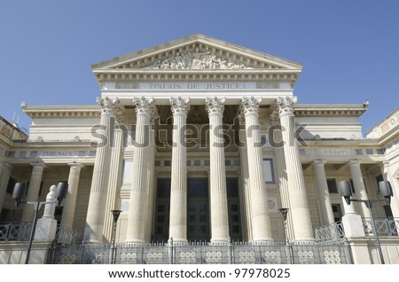 courthouse of Nimes, France - stock photo