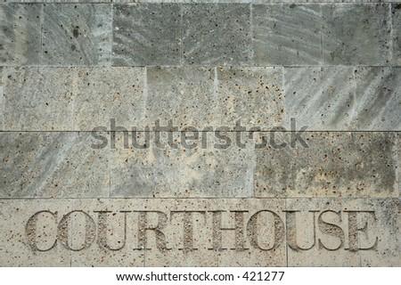 courthouse sign, Charlotte, North Carolina