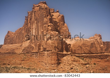 Courthouse Towers at Arches National Park in Utah