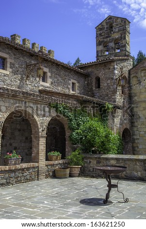 Courtyard of an old castle