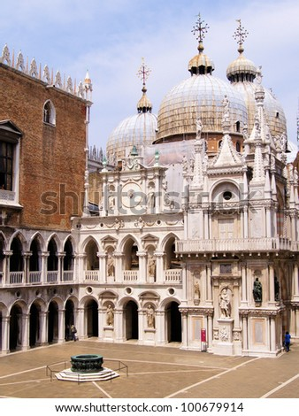 Courtyard of the Doge's Palace, Venice