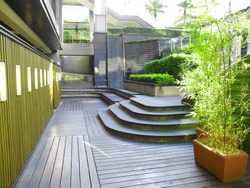 Courtyard outside the building