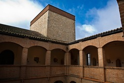 Courtyartd of the Provincial Archaeological Museum of Badajoz is located since 1989 in the Palace of the Dukes of Feria, also called Palacio del Conde de la Roca