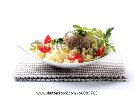 Couscous with tomatoes