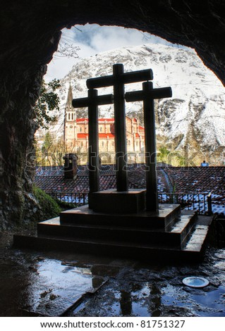 The cave of Covadonga