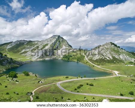 Covadonga Lakes in Asturias, Spain