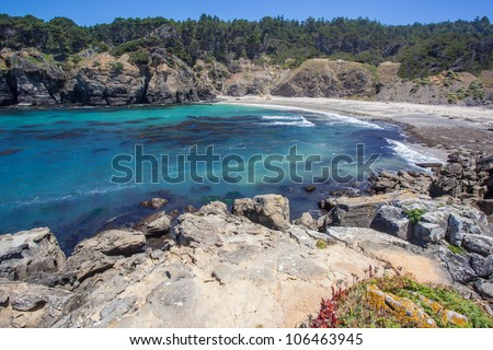 Cove in Salt Point State Park, Sonoma County, California - stock photo