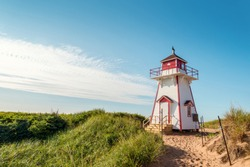 Covehead Lighthouse in Stanhope (Prince Edward Island, Canada)