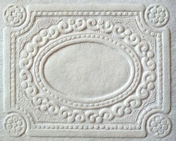cover cardboard white retro surface embossing