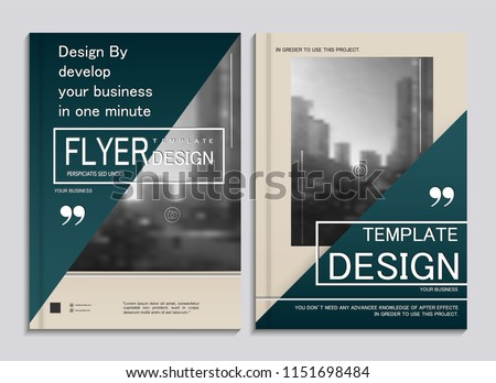 Cover design annual report,vector template brochures, flyer, presentations, leaflet, magazine size. White with green abstract background #1151698484