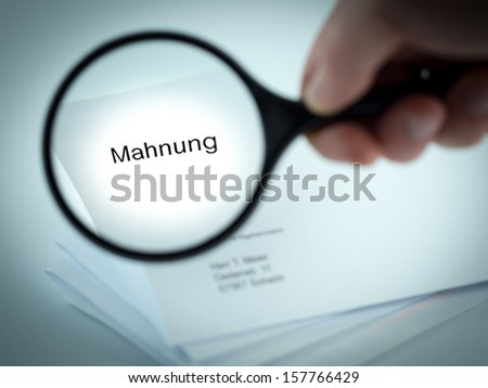 Cover letter with the german word for Final Demand