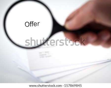 Cover letter with the word Offer in the letterhead