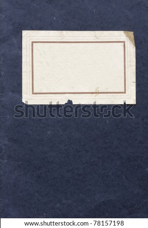 cover of an old note book - stock photo