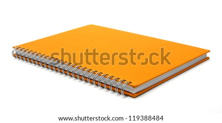 cover of notebook isolated on white background
