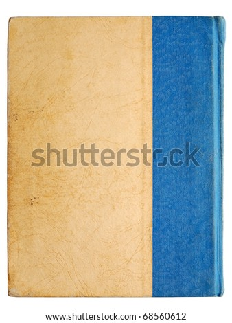 Cover of vintage book isolated on white background