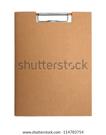 Cover recycle paper clipboard