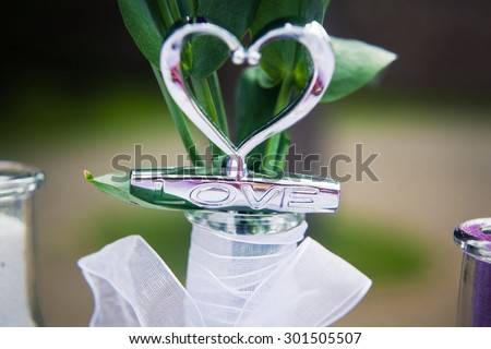 Cover the bottle in the form of heart-site registration ceremony, wedding day