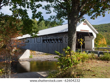 Covered Bridge in Dummerston near Brattleboro in Vermont