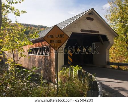 Covered Bridge in Dummerston near Brattleboro in Vermont