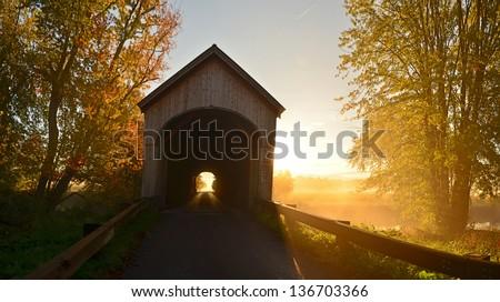 Covered Bridge Sunrise