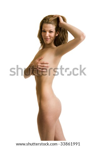 stock photo : Covered nude female model