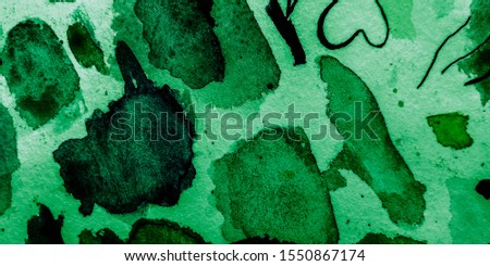 Covered Painting. Dark Grunge Acrylic Art. Colorful Watercolor Paint Textured. Lime Ink. Lime Ink Design Template. Acrylic Painting.