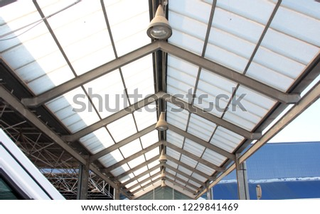 covered parking roof #1229841469