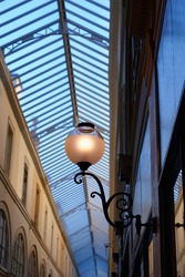 Covered passageway in Paris city