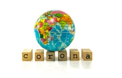 Covid 19 corona virus world wide pandemie with dead people all around the golbe