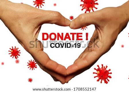 covid-19 coronavirus pandemic financial support aid donate money  background