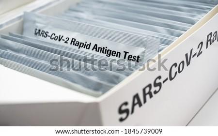 Covid 19 Rapid Antigen Test box ストックフォト ©